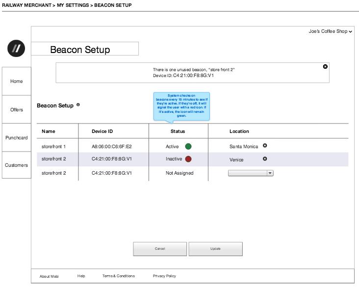 Beacon Technology Setup