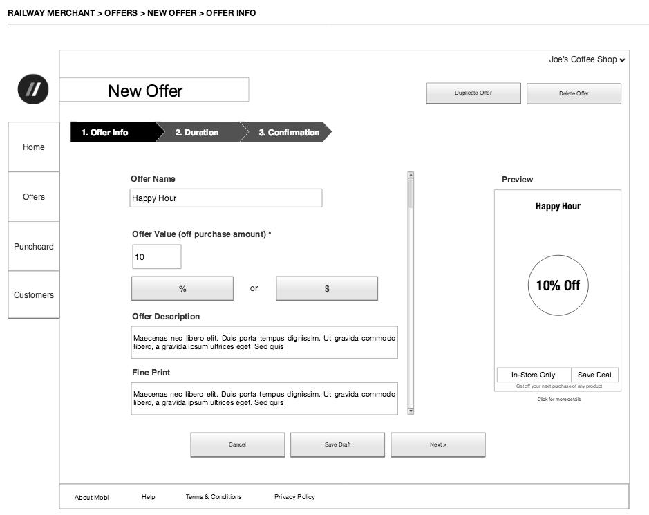 New Offer - Offer Info