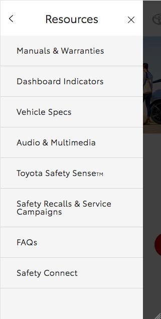 Mobile menu - Resources